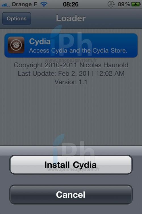 cydia 500x750 Tutoriel – GreenPois0n RC5 : Jailbreak 4.2.1 untethered iPhone, iPod Touch, iPad [WINDOWS]