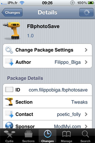 fbphotosave Cydia   FBPhotoSave : Sauvegardez des photos FaceBook [Dispo sur la repo]