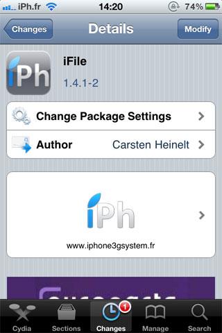file Cydia   iFile passe en version 1.4.1 2