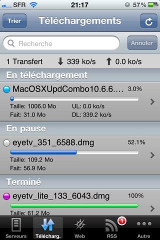 fr AppStore   Gérer les téléchargements de votre Freebox Revolution depuis votre appareil