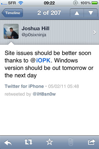 greenWin Jailbreak News   GreenPois0n pour Windows bientôt disponible