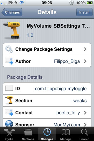 myvolumetoogle Cydia   MyVolume SBSettings Toggle disponible