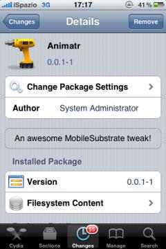 nima Cydia   Animatr : Personnalisez les animations de votre appareil [Dispo sur la repo]