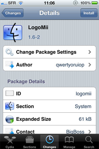 ogomi Cydia   LogoMii : Choisissez une image en BootLogo sur votre iPhone
