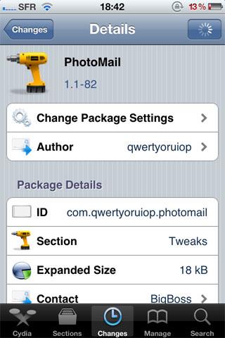 photomail Cydia   PhotoMail est enfin disponible [Dispo sur la repo]