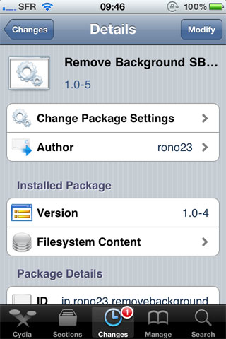 rmvback Cydia   Remove Background SBSettings passe en version 1.0 5