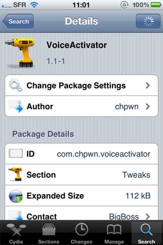 voice1.1 Cydia   VoiceActivator passe en version 1.1