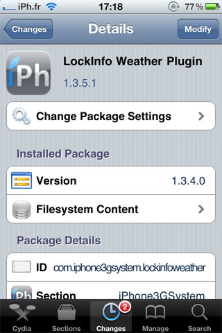 weather Cydia   LockInfo Weather Plugin mis à jour