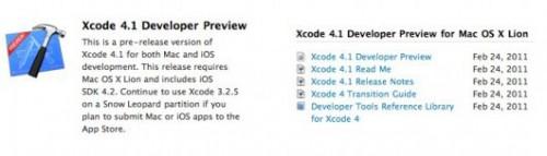 xcode4 500x143 News   Nouveau SDK et XCode pour les développeurs