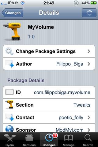yvolume Cydia   MyVolume : Gérez de façon avancée le volume de votre appareil [Dispo sur la repo]