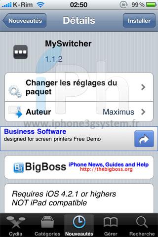 15 Cydia   MySwitcher mis à jour en version 1.1.2