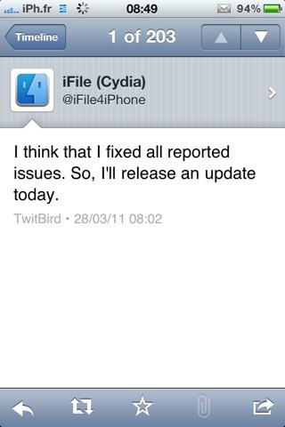 20110328 085211 Cydia   iFile passe en version 1.5.0 2
