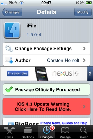20110330 105049 Cydia   iFile passe en version 1.5.0 4