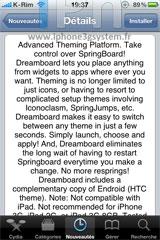 217 Cydia   DreamBoard  1.0.0 : Une nouvelle solution de thèmes enfin disponible en version finale