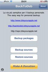 4 Cydia   BackToDeb  : Enfin disponible [Repo iPhone3GSystem]