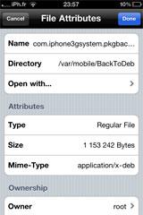 7 Cydia   BackToDeb  : Enfin disponible [Repo iPhone3GSystem]