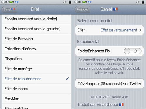 Barrel tweak cydia iPh [CYDIA] Liste des tweaks compatibles iOS 6