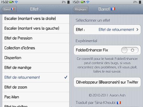 Barrel tweak cydia iPh Cydia : Barrel FR, ajoutez des effets 3D à votre SpringBoard [CRACK]