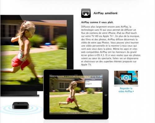 airplay4.3 500x397 News   Liste des nouveautés de liOS 4.3