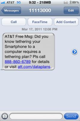 att2 Jailbreak News   AT&T détecte MyWi et informe par SMS