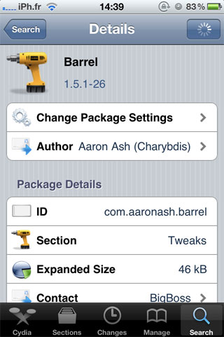 barrel Cydia   Barrel passe en version 1.5.1 26 [CRACK dispo]