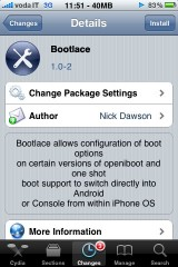 bootlace 160x240 Cydia   Bootlace passe en version 2.1.6