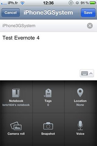 evernote AppStore   Evernote passe en version 4