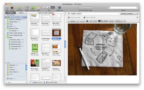 evernotem 500x312 AppStore   Evernote passe en version 4
