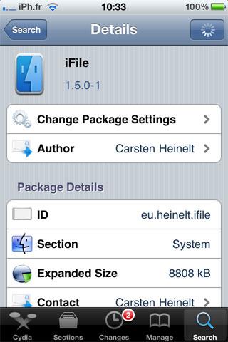 ifile1.5 Cydia   iFile 1.5.0 1 est disponible