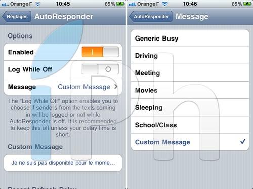 iphone3gsystem.fr cydia autoresponder Cydia   Répondez automatiquement à vos SMS avec AutoResponder [CRACK]