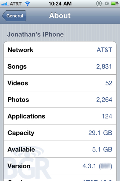 iphone3gsystem.fr iOS431 News   LiOS 4.3.1 est confirmé