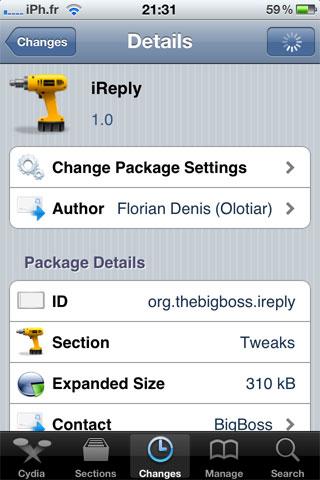 ireply Cydia   iReply : Rappelez vous dun SMS quand vous voulez !