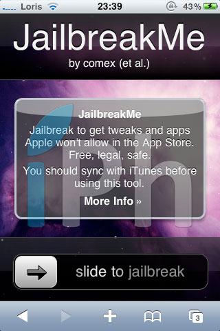 jailbreakme Jailbreak News   liOS 4.3.1 ne comble pas lexploit Pwn2Own