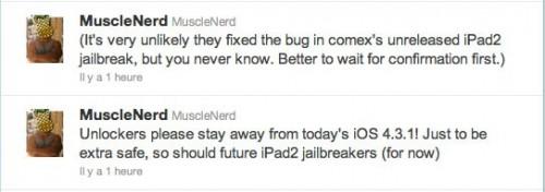 jb4.3.1 500x176 Jailbreak News   Ne mettez pas à jour vos appareils en 4.3.1