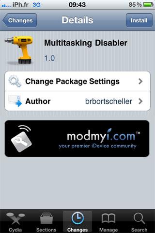 multi1 Cydia   Multitasking Disabler : Désactiver le multitâche de liOS
