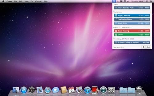 noS8 500x312 Concours CalendarBar MacSystem : 5 licences CalendarBar à gagner jusqu'à 22 heures