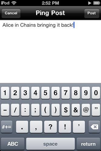 ping News   Une nouveauté dans lapplication iPod sous iOS 4.3