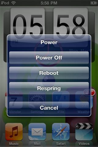 poweruppopup Cydia   PowerUp : Gérez lextinction de votre appareil via Activator