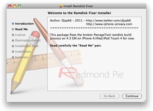 ramdisk Tutoriel   PwnageTool 4.2 : Jailbreak iOS 4.3 GM pour iPhone 4 [MAC]
