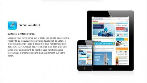 safariturbo 500x285 News   Vidéo comparative de Safari sous iOS 4.2.1 et sous iOS 4.3 GM