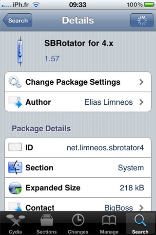 sbrotator1.57 Cydia   SBRotator for 4.x passe en version 1.57