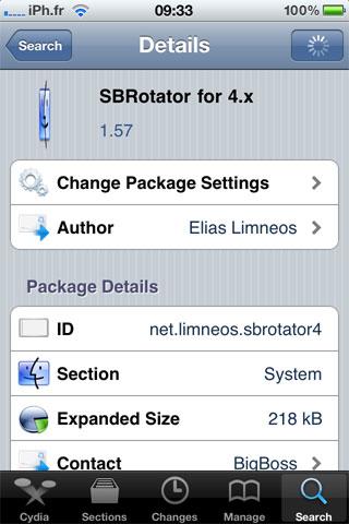 sbrotator1.57 Cydia   SBRotator for 4.x passe en version 1.57