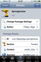 springtomize 160x240 Cydia   Springtomize : Une personnalisation complète de votre SpringBoard