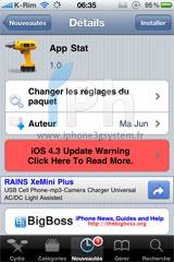 1 Cydia   App Stat : Vos applications les plus utilisées