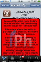 112 Cydia News   Amazon : Leur serveurs sont toujours bloqués et Cydia avec ...