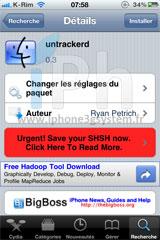113 Cydia   Untrackerd : Passe en version 0.3