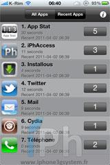 2 Cydia   App Stat : Vos applications les plus utilisées