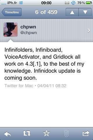 20110404 090543 Cydia   Les Infiniapps, VoiceActivator et GridLock sont compatibles 4.3 / 4.3.1