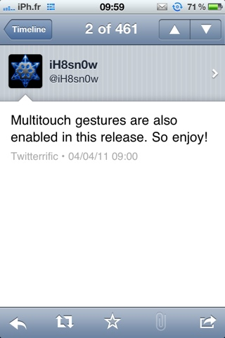 20110404 100440 Jailbreak News   Sn0wbreeze passe en version 2.5 : jailbreak untethered iOS 4.3
