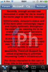211 Cydia News   Amazon : Leur serveurs sont toujours bloqués et Cydia avec ...